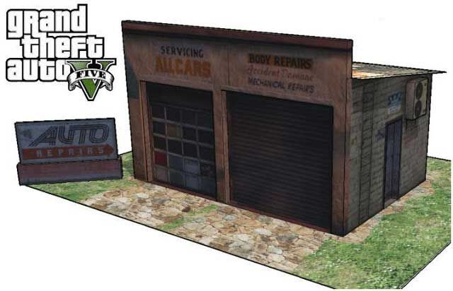 GTA V - Sandy Shores Service Station Free Paper Model Download - http://www.papercraftsquare.com/gta-v-sandy-shores-service-station-free-paper-model-download.html#GrandTheftAuto, #GrandTheftAutoV, #GTA, #GTAV, #ServiceStation