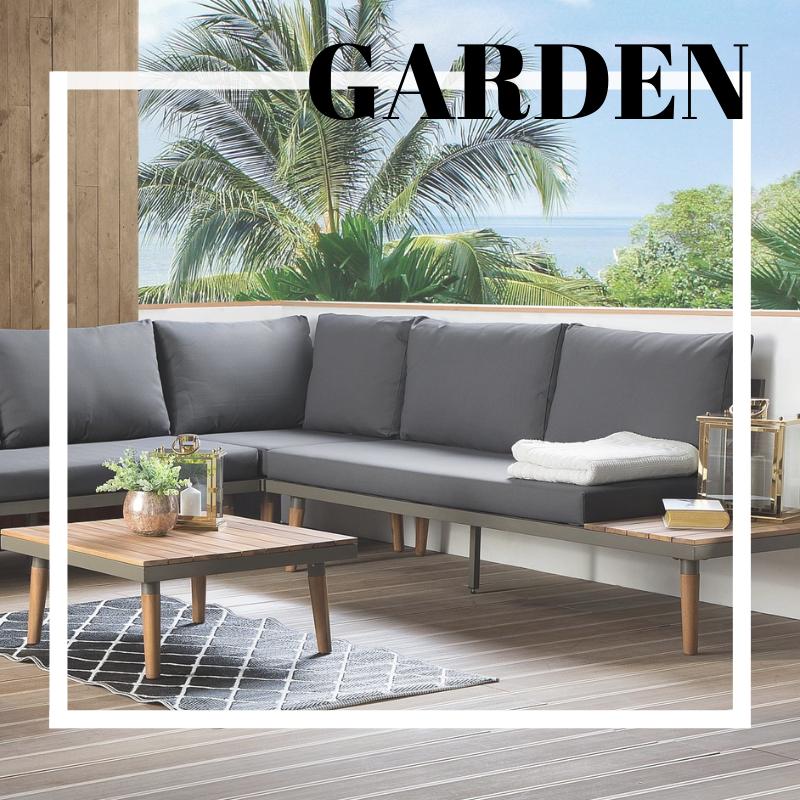 5 Seater Garden Sofa Set Grey Corato