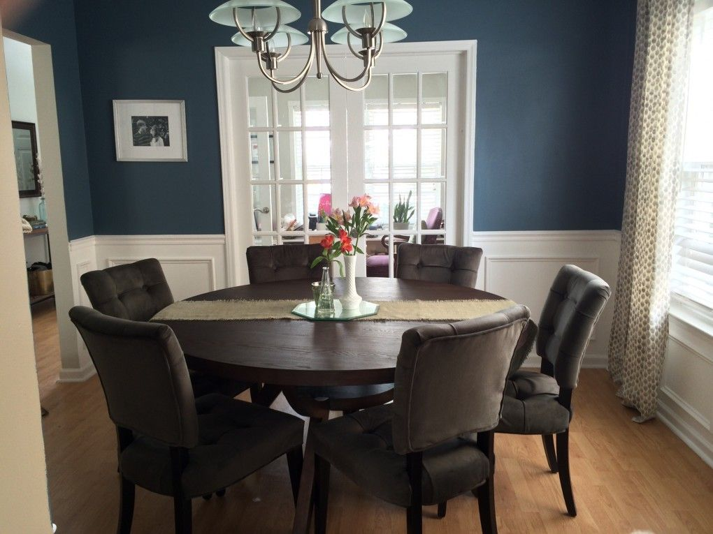Dining Room, Before & After Dining room wainscoting