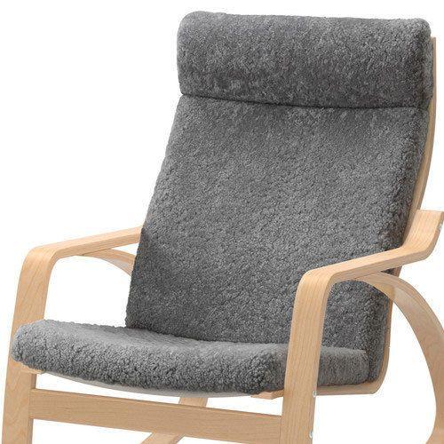 New Ikea Poang Chair Cushion Only Lockarp Gray Sheepskin Brand New Sealed Poang Rocking Chair Rocking Chair Glider Rocker Chair