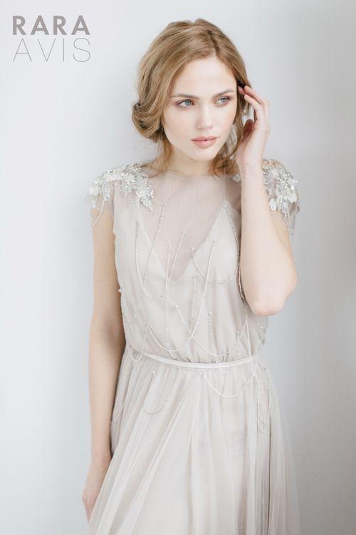 Wedding dress Ivanel by Rara Avis. Short sleeve dreamy romantic open ...