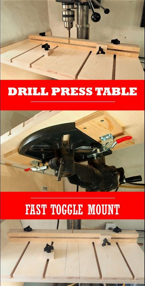 How To Make A Drill Press Table Woodworking Jig Drill Press Table Woodworking Jigs Drill Press