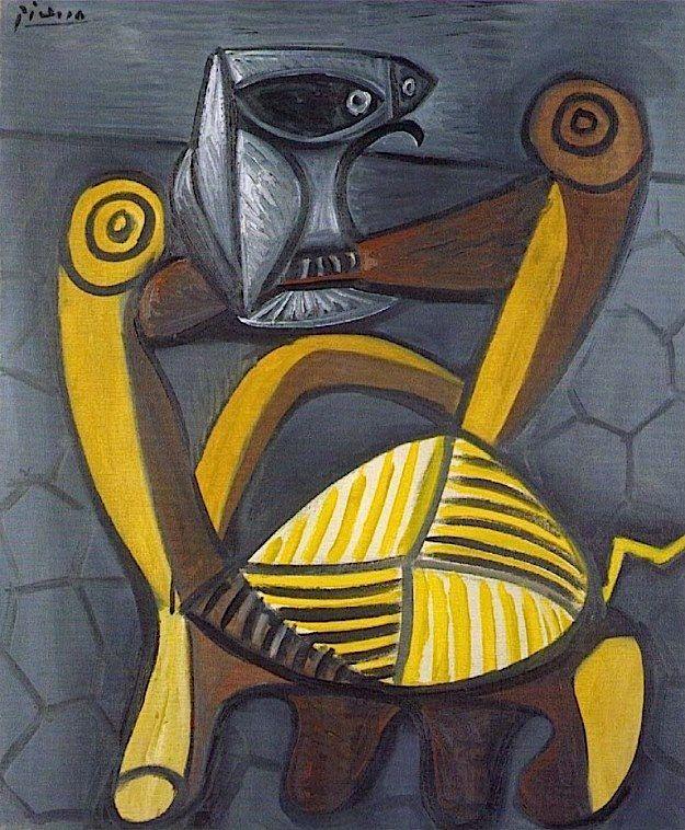 Pablo Picasso - Le Hibou sur la Chaise -