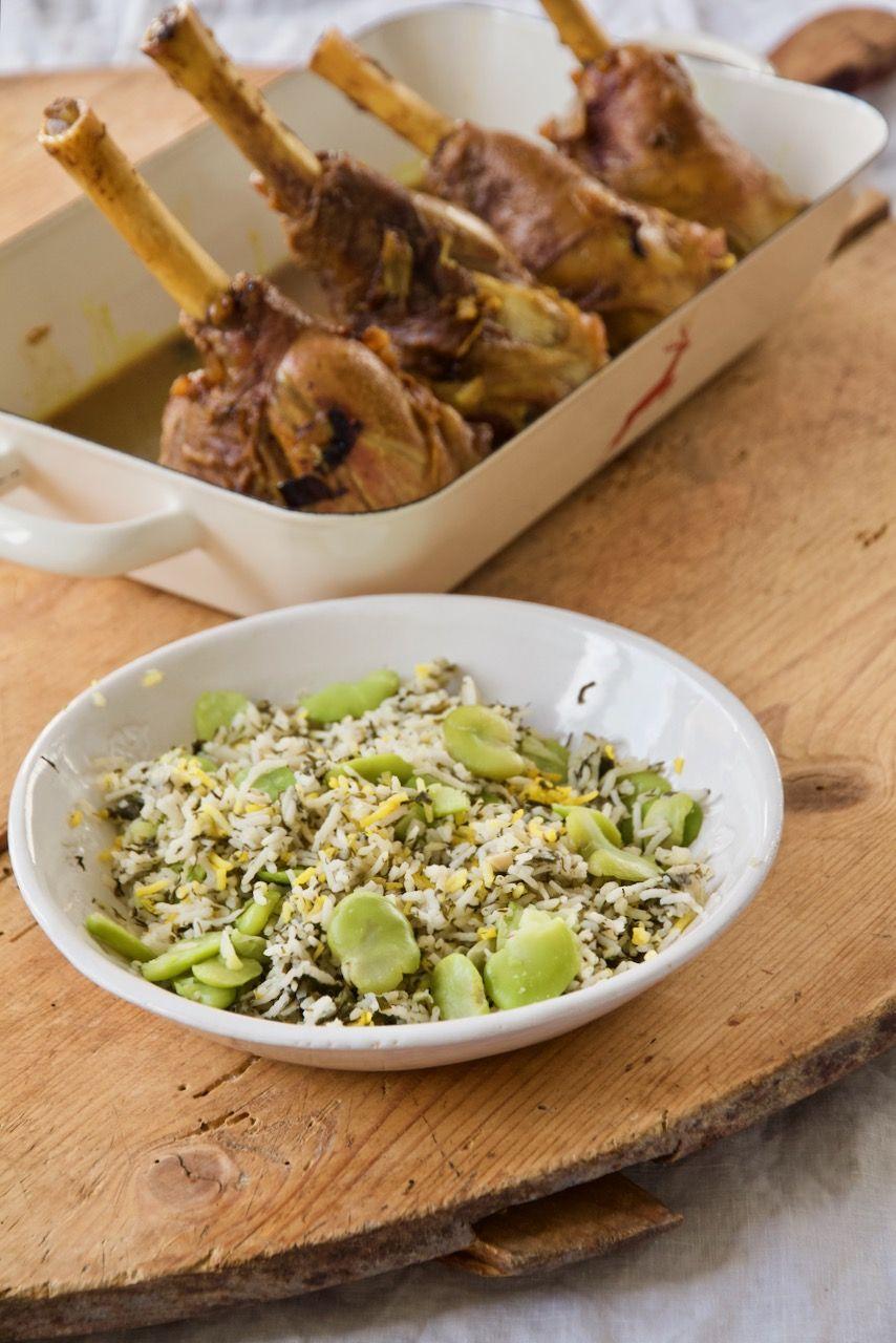 Baghali Polo Ba Mahiche Geschmorte Lammhaxen Mit Dillreis Und Dicke Bohnen Labsalliebe Rezept Persische Rezepte Persisches Essen Einfache Gerichte