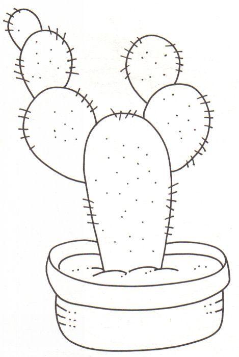 Resultado de imagen de cactus en tela moldes   pintura   Pinterest ...