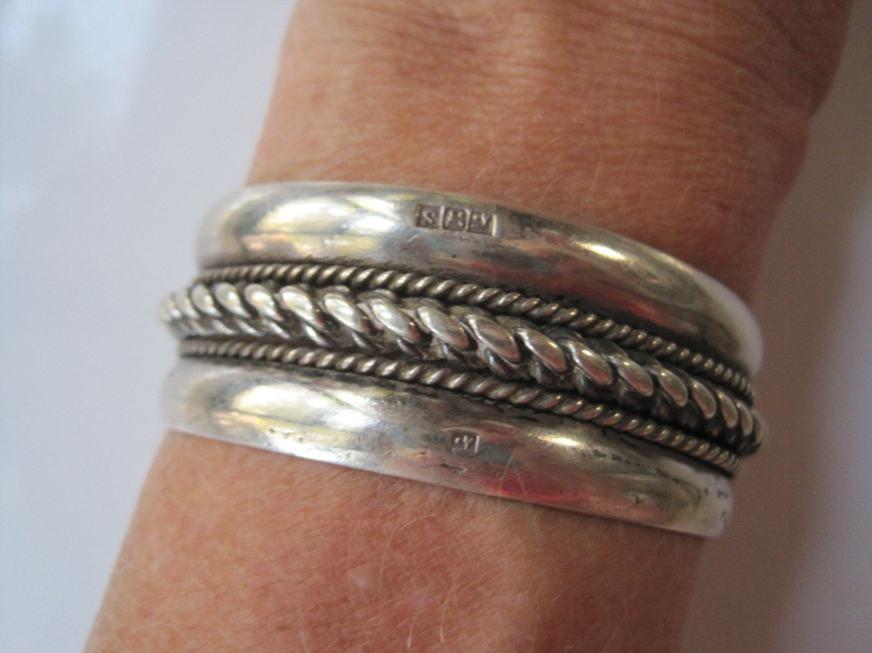 Jewelry & Watches Fine Jewelry Objective Vintage Silver Hallmark 925 Bangle