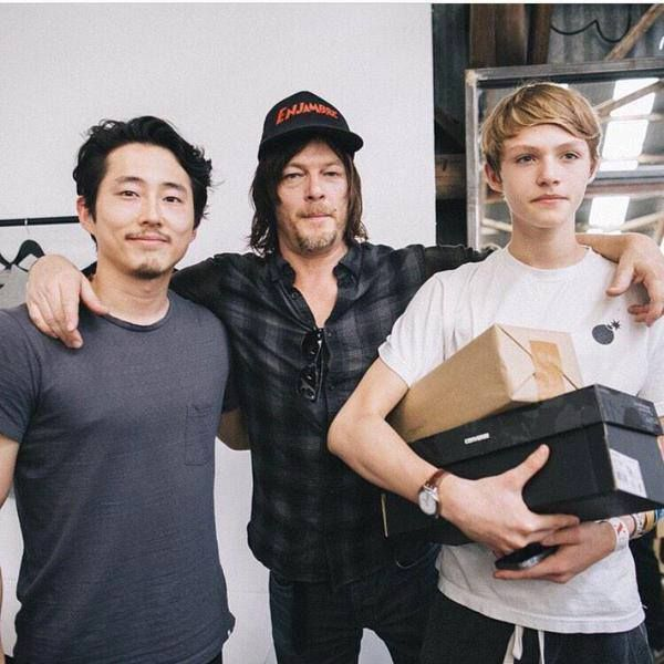 Steven Yuen Norman Reedus His Son Mingus
