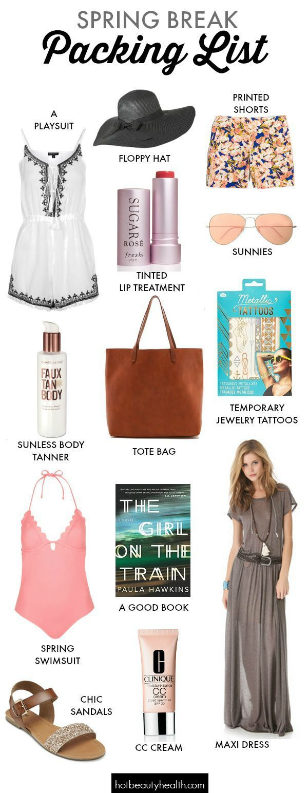 Travel: Spring Break Packing List | Beauty cream, Spring and Clothes