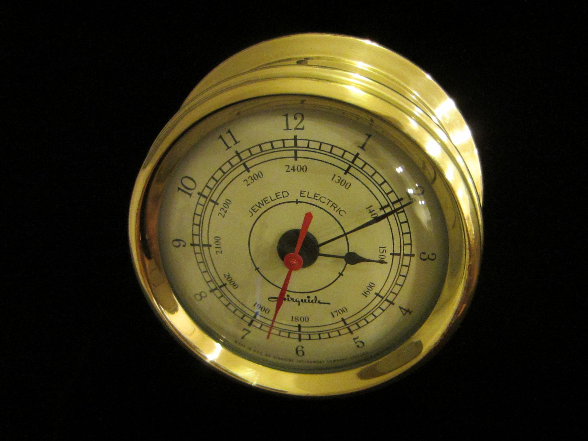 Jeweled Electric Airguide Chicago Junghans Brass Ship ...