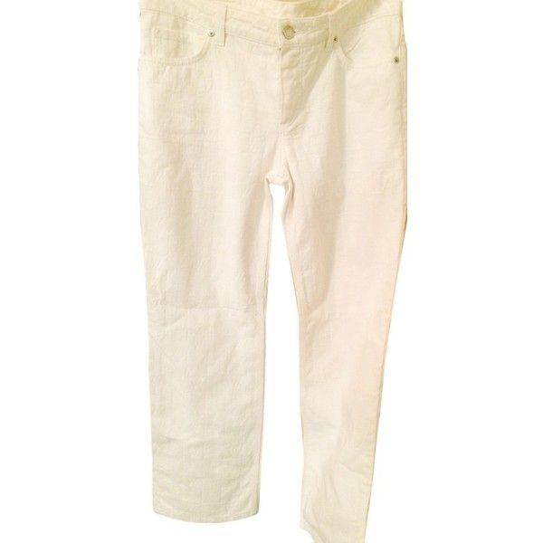 Pre Owned Louis Vuitton Monogram Embossed Denim Jeans Straight Pants