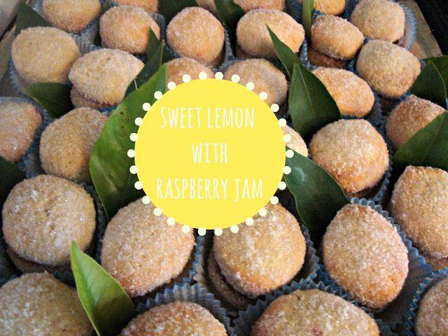 Sweet lemon with raspberry jam!