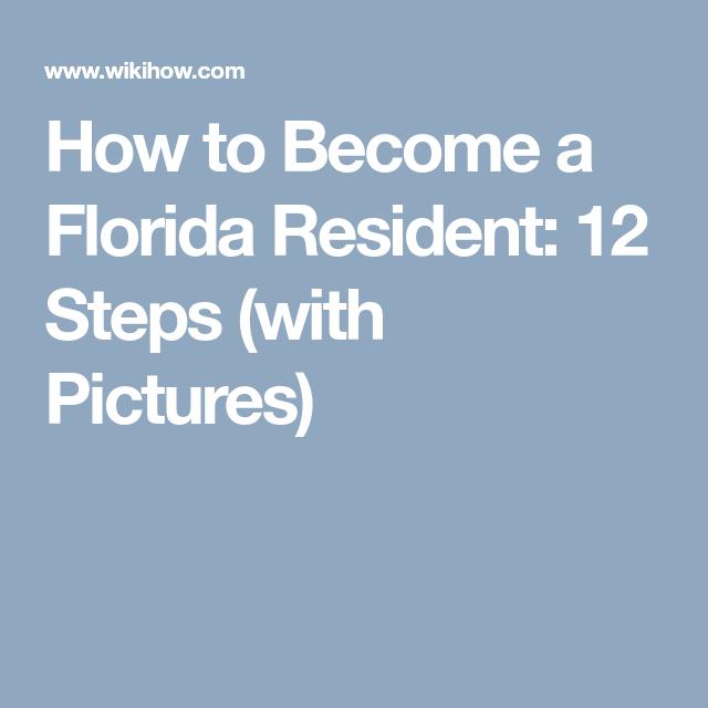Pin On Florida Residency