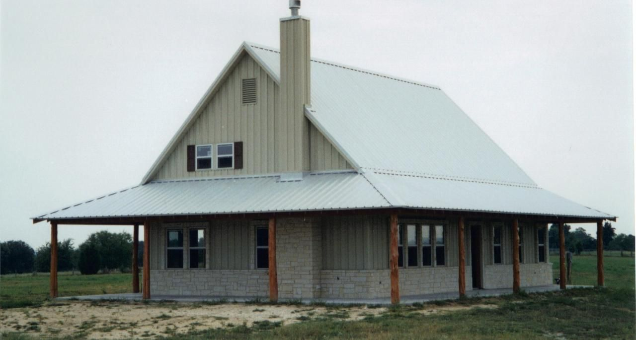 Texas metal building home plans home design and style for Steel building home designs