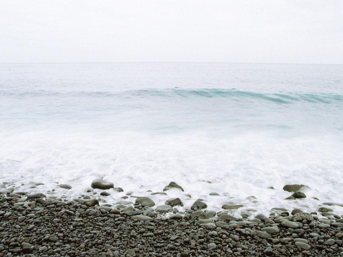 Tenerife island spain ocean waves u stones teal blue fine art