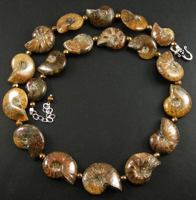 Whole ammonite necklace