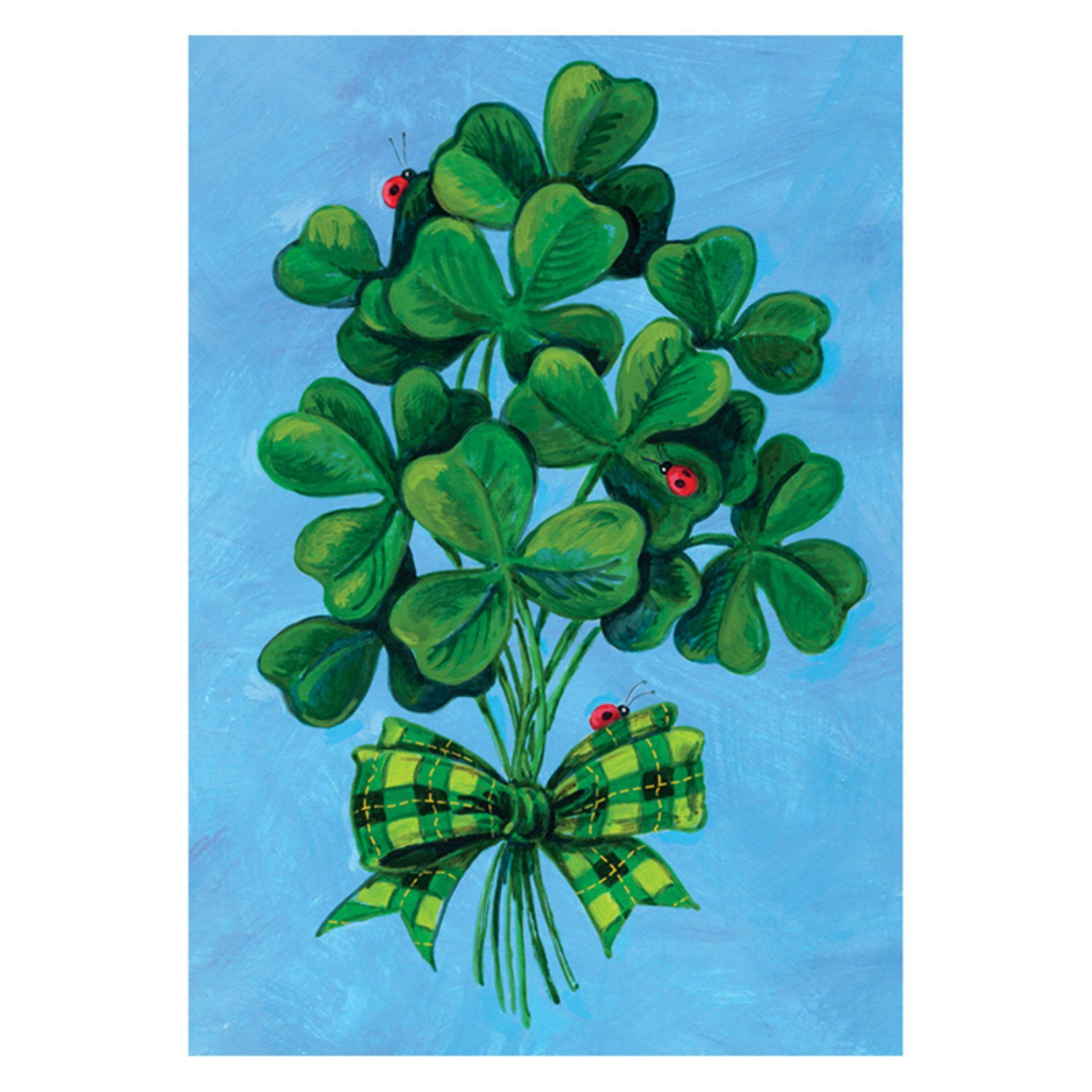 Toland Home Garden Shamrock Bouquet Flag 112589 House Flags Happy St Patricks Day