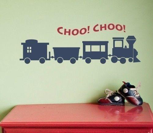 Train Wall Decal, Boys Wall Decals, Childrens Wall Decals, Boy ...