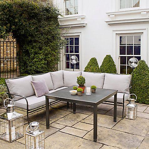buy john lewis henley by kettler henley corner sofa table set from our garden furniture sets range at john lewis