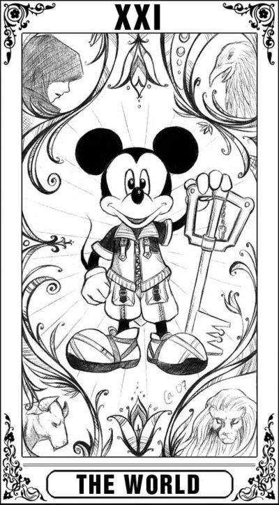 Kh Tarot The World By Autumn Sacura On Deviantart Kingdom Hearts Worlds Kingdom Hearts Coloring Pages