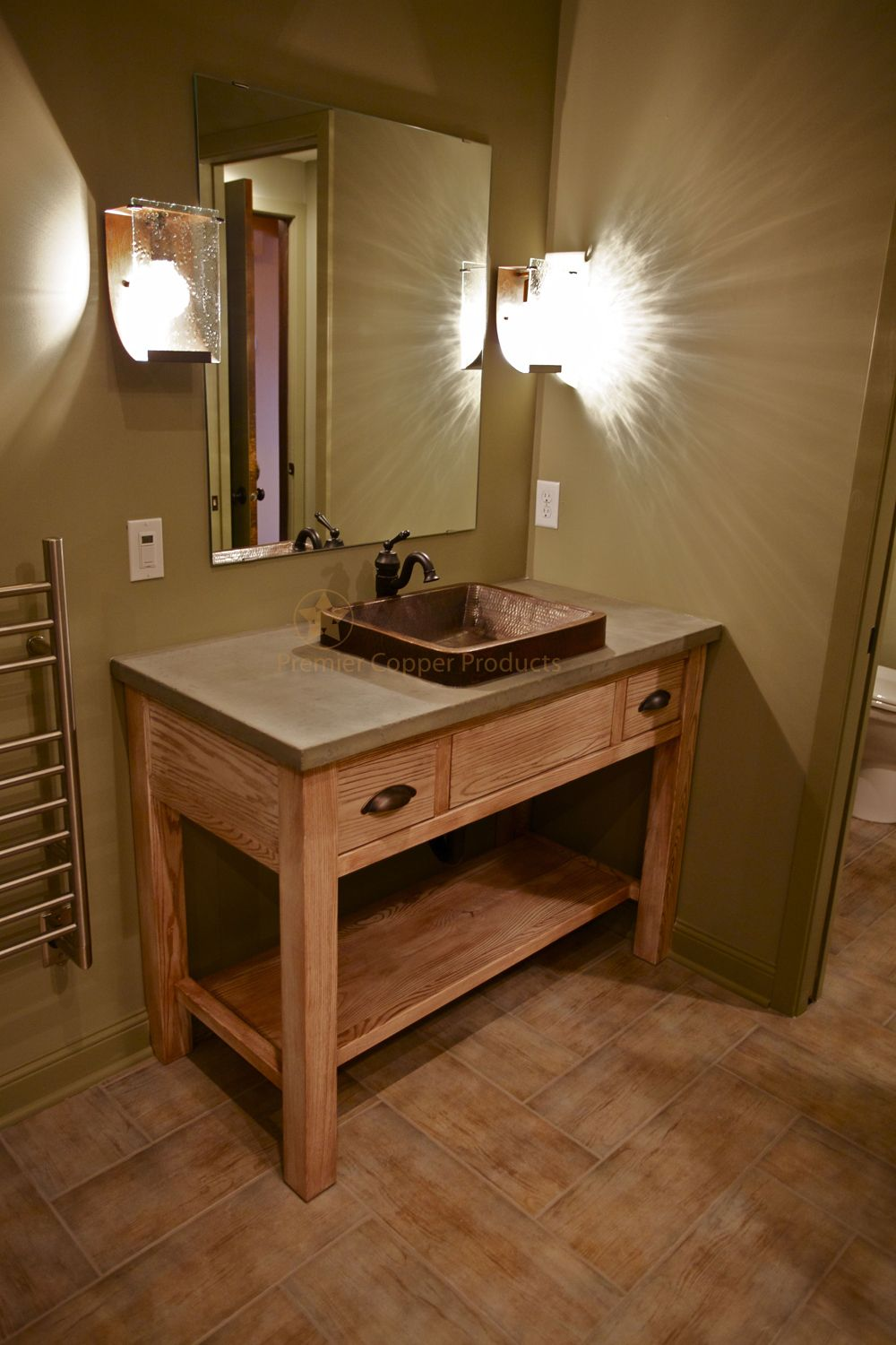 Featured On Diy Networks Bath Crashers This Rectangle Copper. Exclusive  Design Copper Vessel Sinks Bathroom Hammered Sink With Simple Rushmore ...