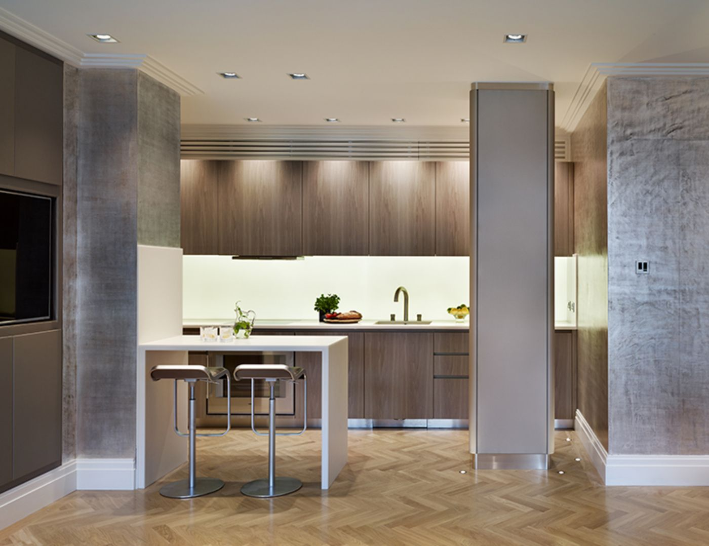 Kitchen in an open plan living/ dining room London