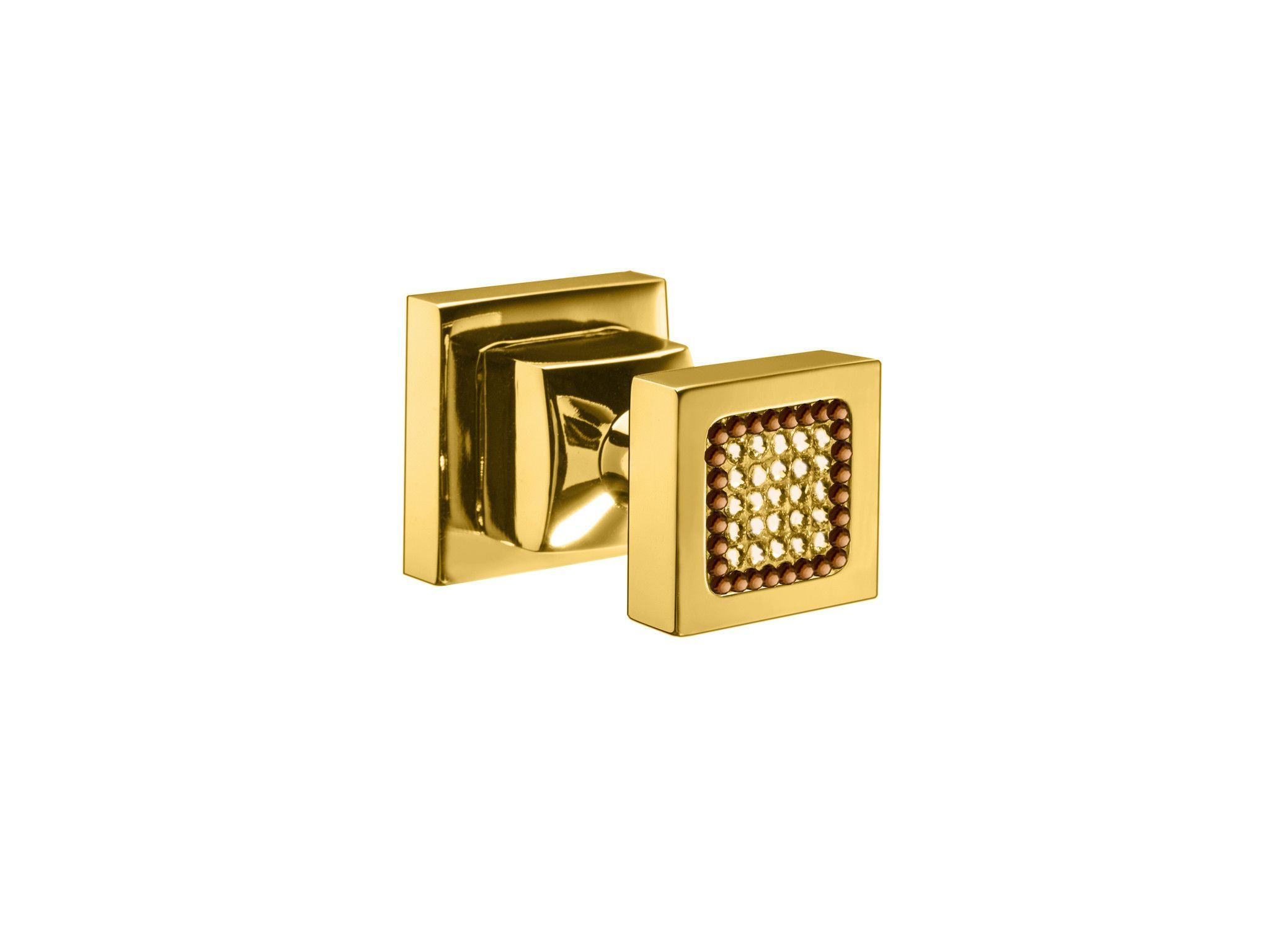 Starlight Brass Towel Robe Hook/ Hanger w/ Swarovski Crystals - Gold/ Chrome