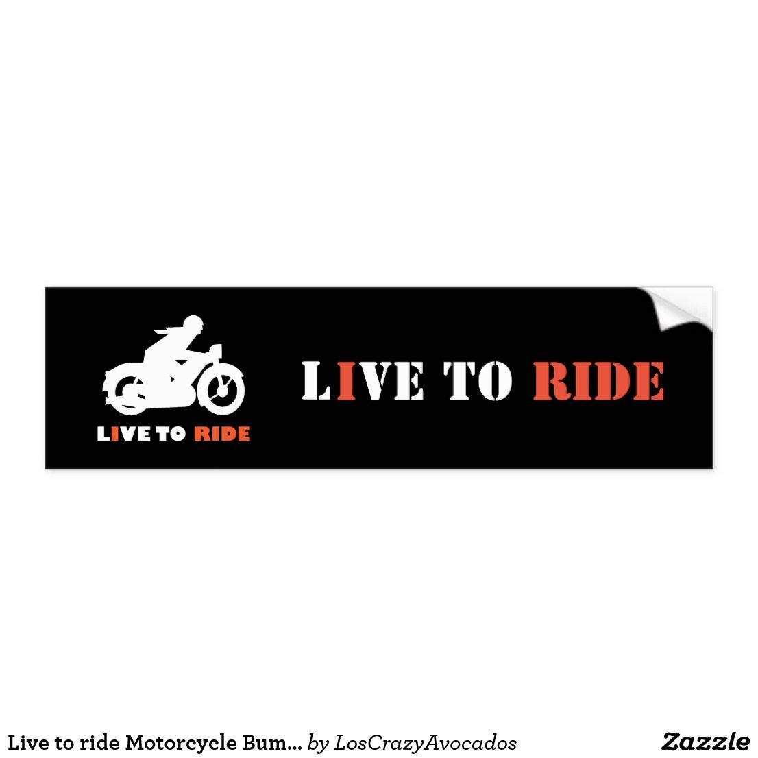 Live To Ride Motorcycle Bumper Sticker Ride Bike Biker Motorcycle Sticker Motorbike Funky Gift Cool Road Car Bumper Stickers Bumpers Car Magnets [ 1106 x 1106 Pixel ]
