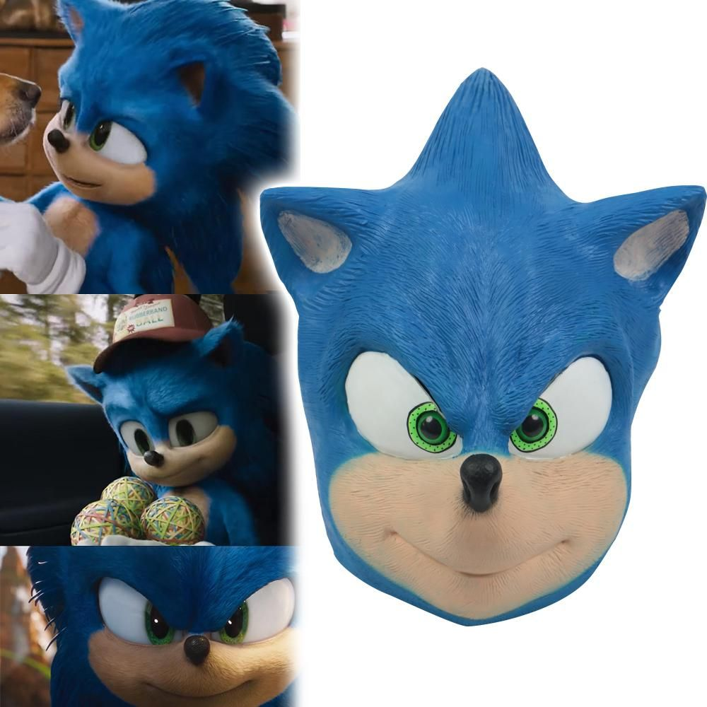 Sonic Mask The Hedgehog Cosplay Costume Mask Halloween Masquerade Props