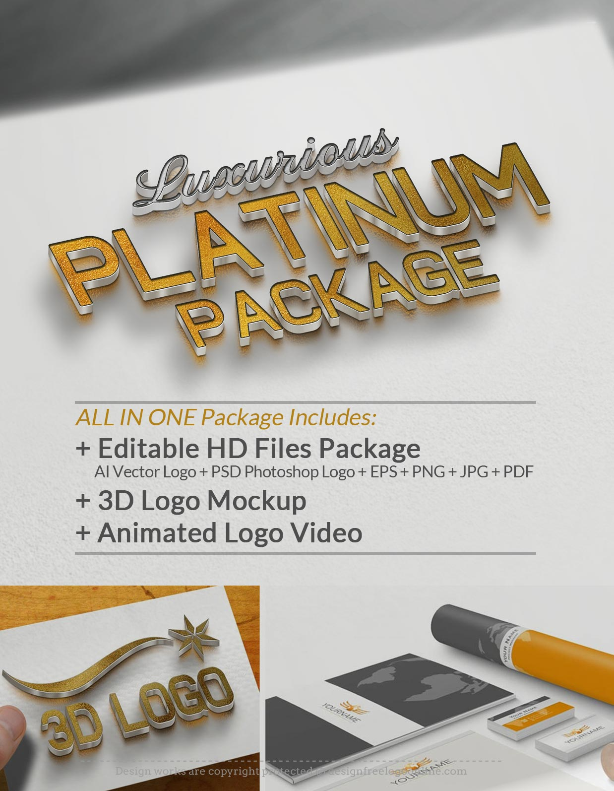 Upgrade Your Logo ALLINONE Luxurious Platinum Package