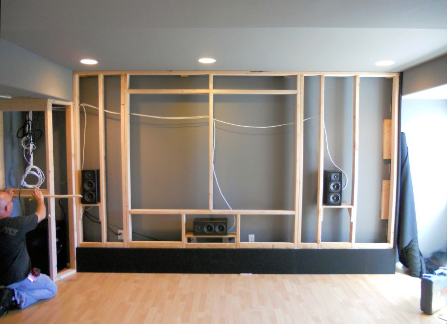 A Custom Acoustically Designed Screen Wall By Theater Design