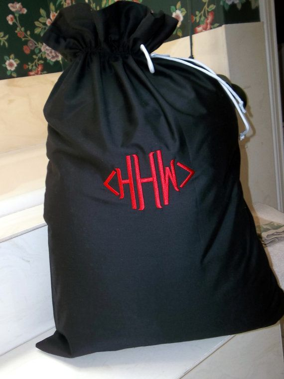 Monogrammed Laundry Bag Personalized By Blumers Embroidery On Etsy 22 00 Https Www