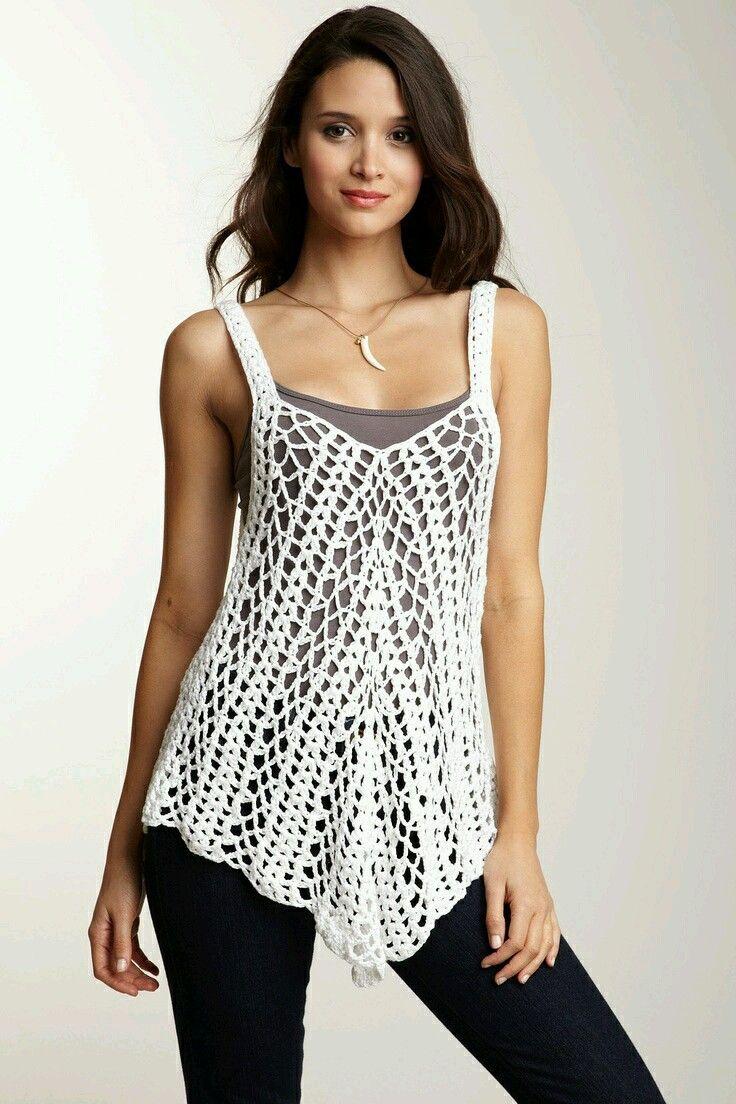 Mi baúl de Inspiraciones : blusas sin mangas tejidas a crochet ...
