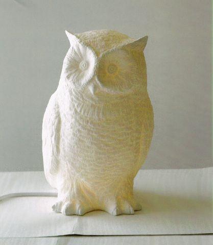 Master Bedroom White Owl Lamp