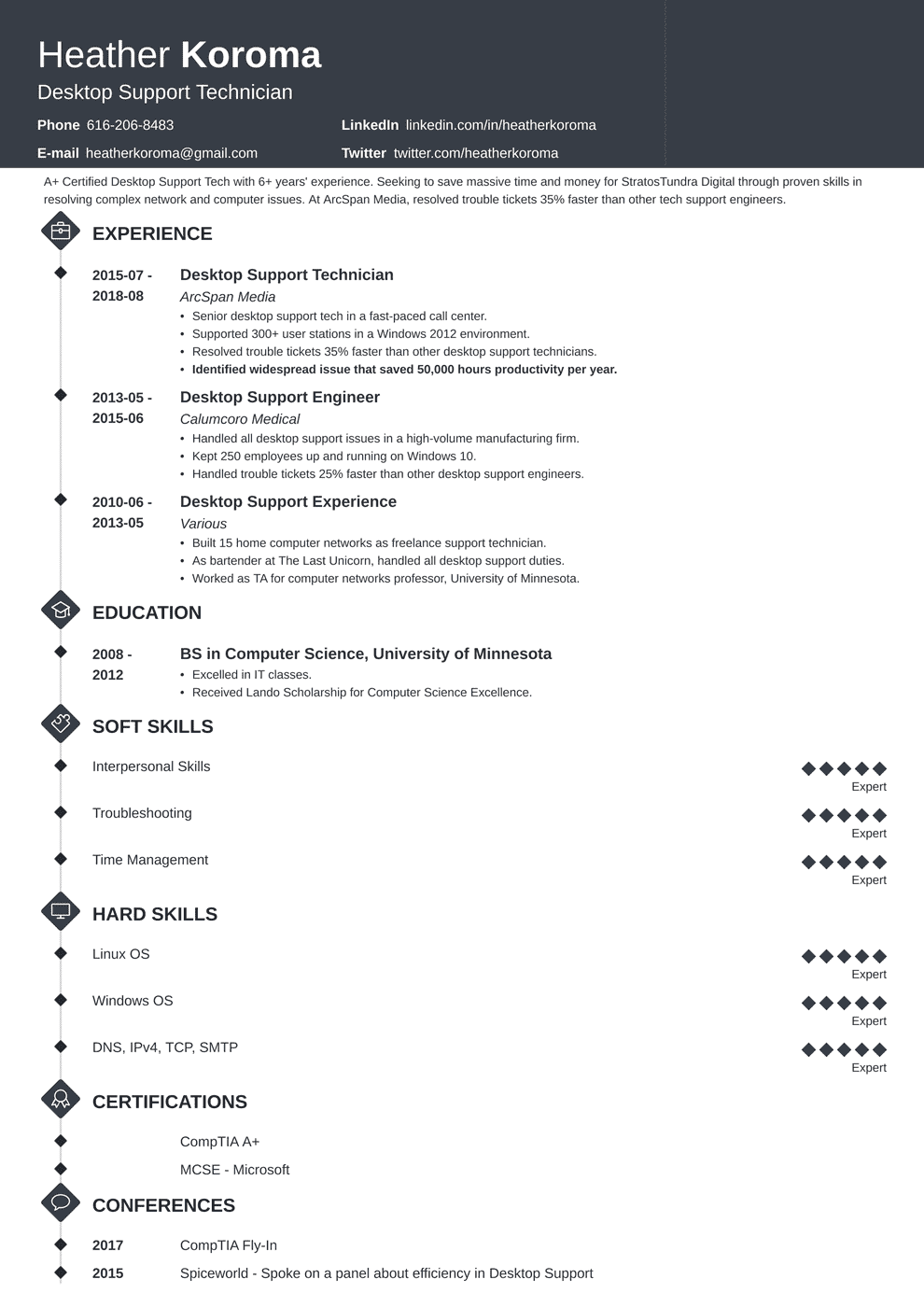 bookkeeper resume template diamond in 2020 Job resume
