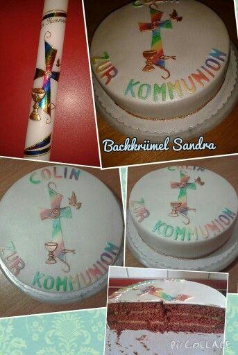 Kommunion Torte Backkr Mel Pinterest Backen Food