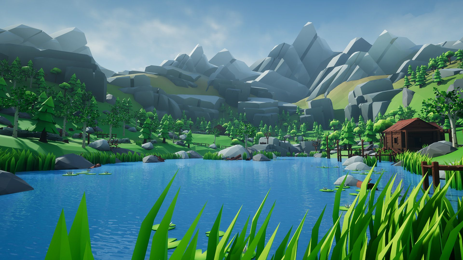 Lowpoly Style Woodlands Pack by CH Assets in Environments