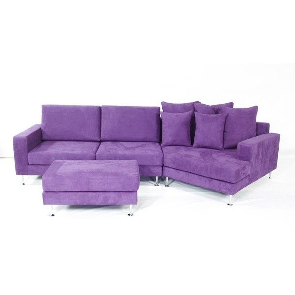 Emilia A Modern Leather Or Microfiber Sectional Sofa Couch Set