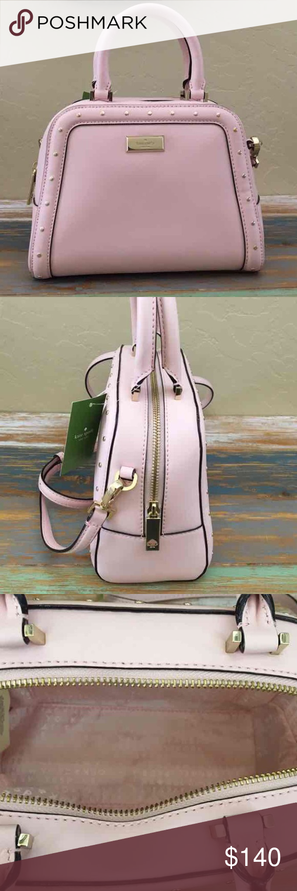 🌷NWT KATE SPADE SMALL ROCKI HELENA 100% Authentic - Brand new with tags $328  No dust bag included  Style: WKRU3558     Color: Posypink   •Kate Spade crossbody handbag with gold toned hardware •Dual handles with drop of approx. 3.5 inches •Detachable, adjustable strap with a maximum drop of approx. 22 inches •Interior features 1 slip pocket •Approx. dimensions: 8.75 in L x 6.75 in H x 4 in W kate spade Bags Crossbody Bags