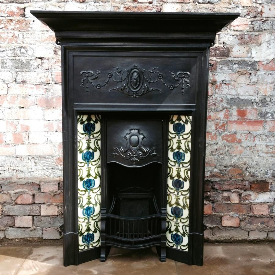 edwardian cast iron fireplace for sale on salvoweb from
