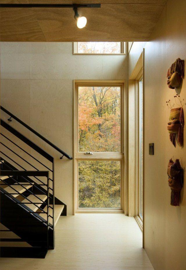Glastür Fenster Flur Gestalten Einbauleuchten Modernes Fertighaus