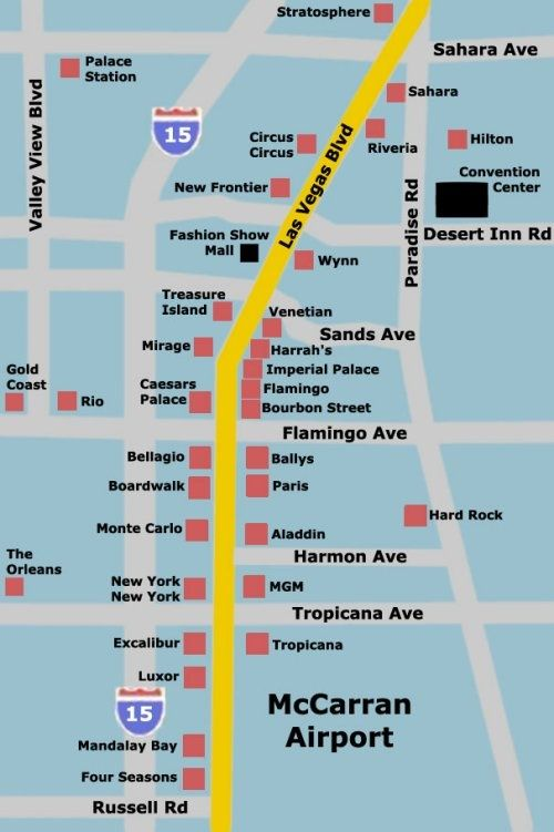 Las Vegas Hotel Map travel ilovesummer Pinterest Vegas