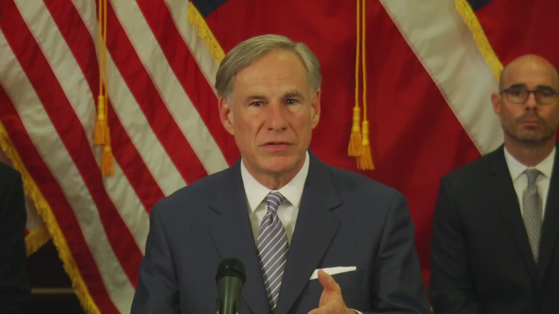 TEXAS With the Governor signing the executive order on