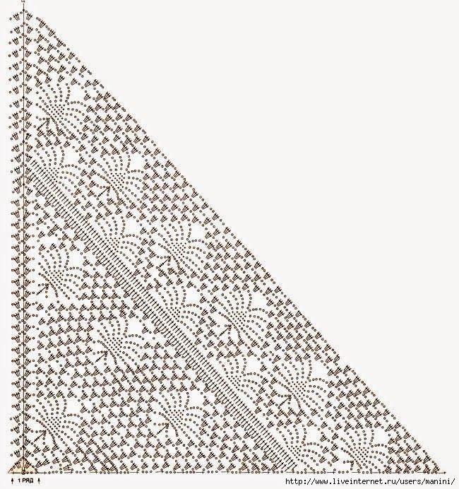 Chal / mantón tejido con ganchillo   Crochet y dos agujas   crochet ...