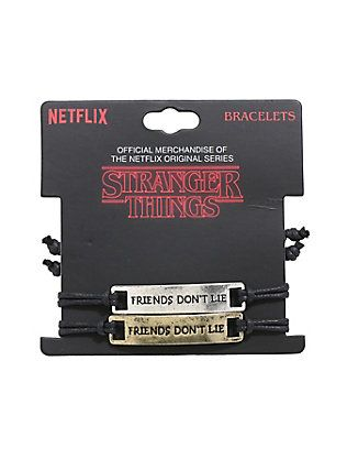 Stranger Things Friends Donu0027t Lie Best Friend Cord Bracelet Set - best of stranger things