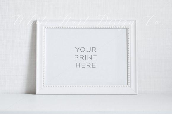 White frame mock up - Psd/Jpeg by White Hart Design Studio on ...