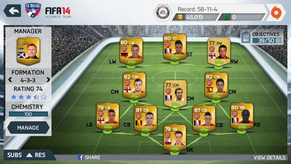 My Arsenal Team It Still Needs Work Fifa 15 Fifa Ea Sports Fifa