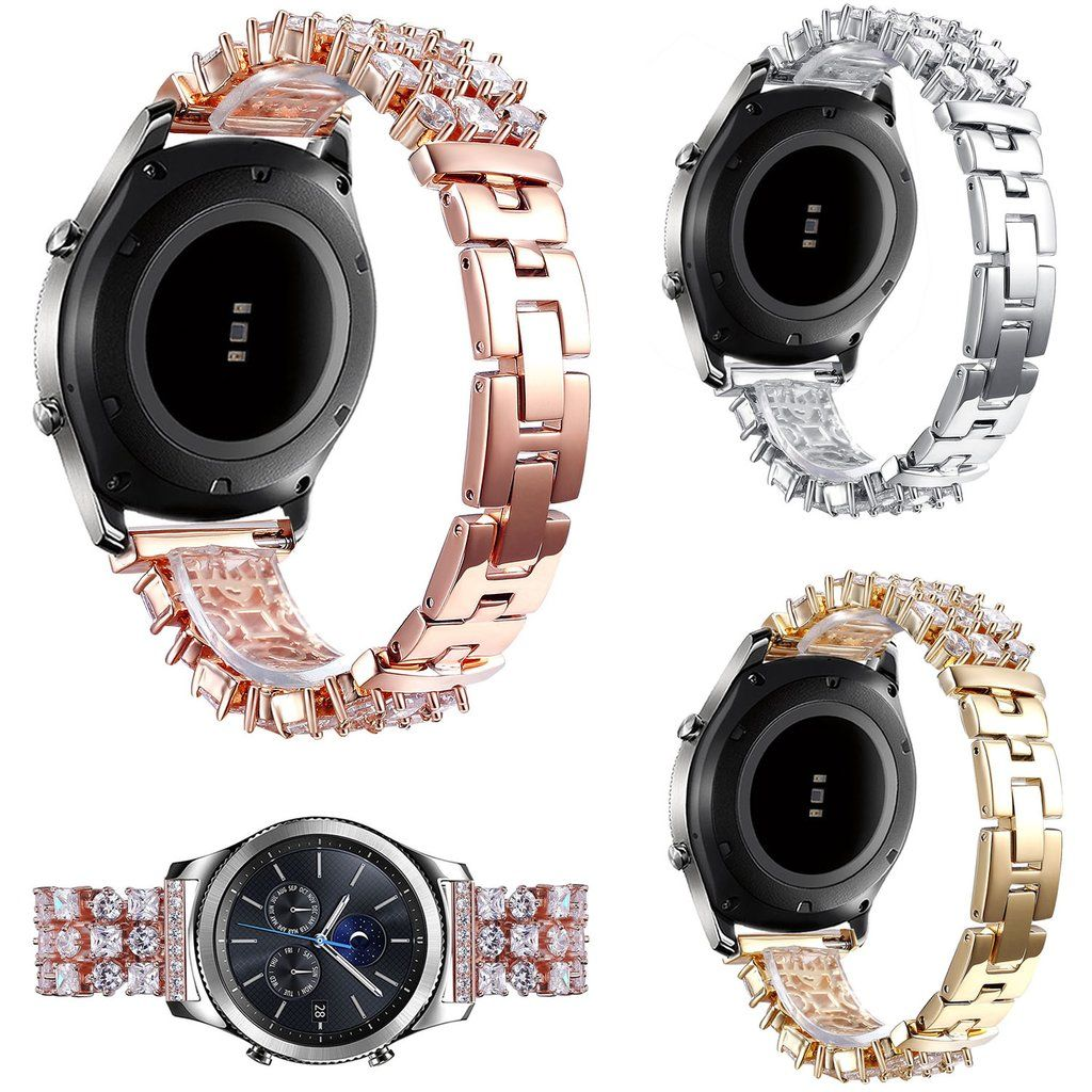 Bling Diamond Strap For Samsung Galaxy Gear S3 Classic Rhinestone Stainless Steel Band Stainless Steel Band Rhinestone Bling