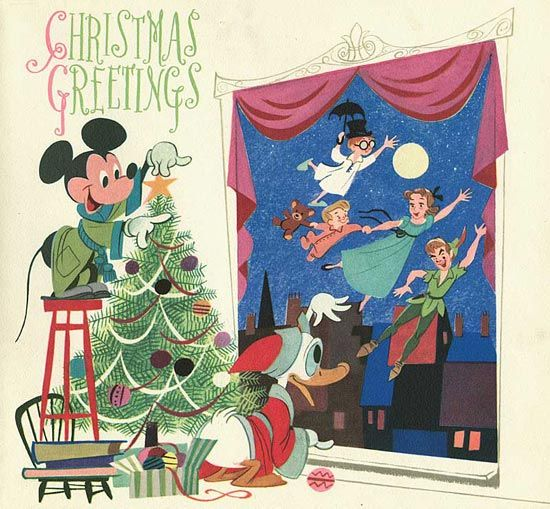 Disney vintage holiday cards