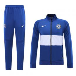 19 20 Chelsea Blue White High Neck Collar Training Kit Jacket Trouser Chelsea Chelsea Blue Training Kit Arsenal Football Shirt