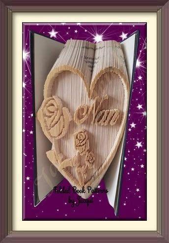 1966 Nan Book Folding Pattern Rose Heart Book